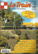 LE TRAIN N°157 JARDIN DE FLEURVILLE / RESEAU HO DU CLUB D'AURILLAC / FUNICULAIRE
