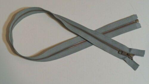 28 inch Medium Grey /& Antique Brass #5 Separating YKK Zipper New!