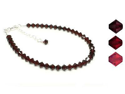 Sterling Silver Red Crystals Handmade Bracelet made with SWAROVSKI ELEMENTS