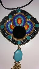 Cherokee made, beadwork pow wow regalia necklace