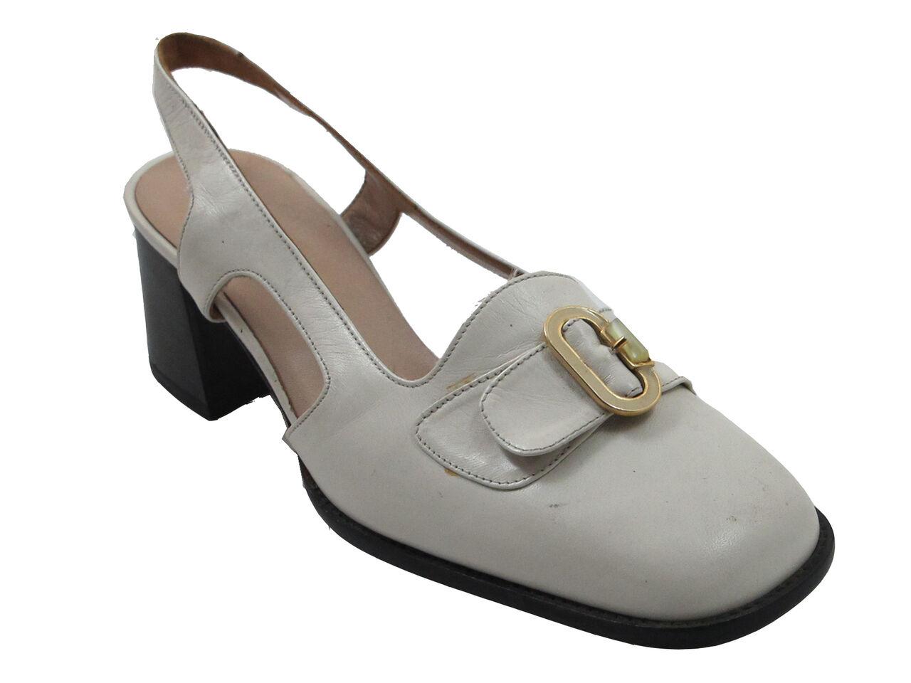 DA'VINCI 255 Women's Italian Casual Low Heel Closed Toe Sling Back Sandal