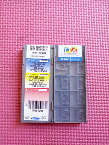 50pcs Iscar APKT 1604PDR-76 IC328 Carbide Insert new Free Shipping