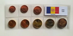 EURO-ANDORRA-SET-8-MONETE-ANNI-VARI-FDC-UNC
