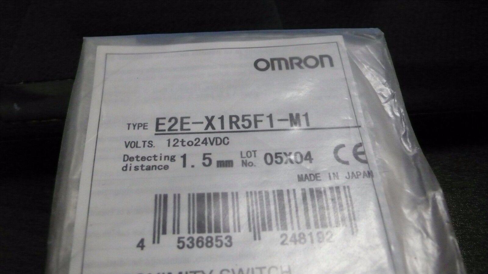 Omron E2EX1R5F1M1 12-24VDC  1.5MM PROXIMITY SWITCH