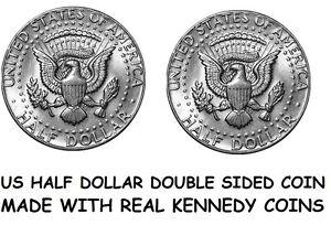 Double Sided KENNEDY HALF DOLLAR Double Headed HALF Dollar - Two Tailed 50c Coin