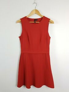 MNG Suit Burnt Orange A-Line Business Dress Women's Size S US4 TURKEY Made Lined