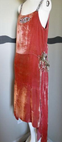 Vintage 1920s Dress Flapper Silk Velvet