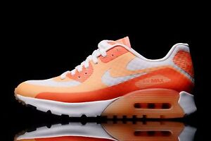 Nike Air Max 90 Ultra BR WmnShoes Size 5 725061-100 White Sunset Glow Hot Lava