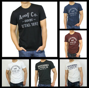 bd8213328 New Abercrombie Fitch A&F by Hollister Men Applique Graphic Logo Tee ...