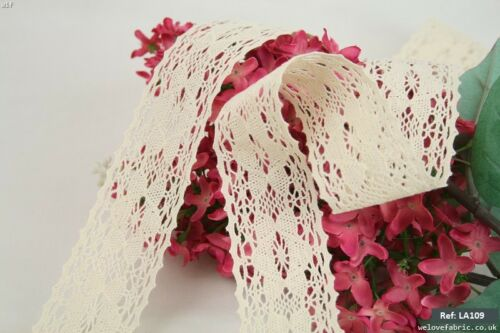 4m Vintage Style Crochet Cotton Lace Trimming Ribbon Low Price High Quality