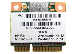 NEW-HP-588551-001-802-11b-g-n-WN6602RH-Wireless-Half-Mini-Card-RT3090