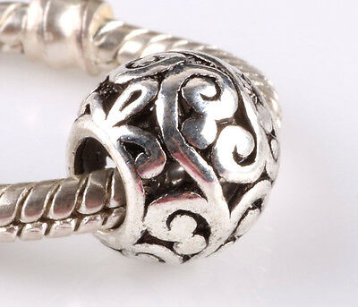 hot 20PCS retro Tibetan silver big hole beads fit Charm European Bracelet AA609