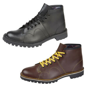 Grafters Mens Original Retro 60s Leather Monkey Boots