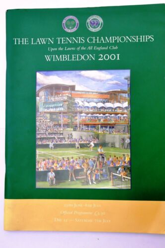 WIMBLEDON Tennis Championships Rare2001 FINAL PROGRAMME SIGNED BY VENUS WILLIAMS