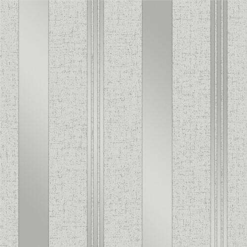 QUARTZ STRIPE WALLPAPER SILVER FINE DECOR FD41967 GLITTER