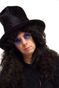Wig /& Specs Fancy Dress set Hard Rocker-Slash-HEAVY METAL ROCK STAR Hat