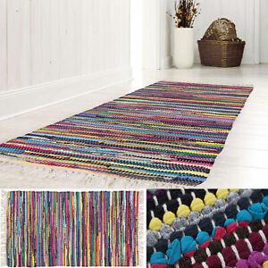 Details zu Flickenteppich Handwebteppich Fleckerl Teppich 100% Baumwolle  Bunt Läufer Küche