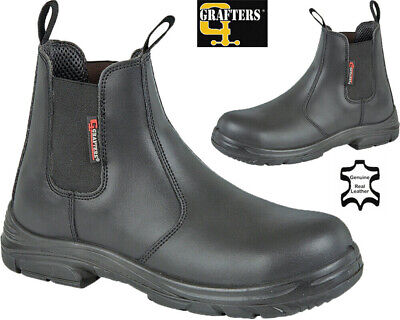 Mens EEEE Wide Fit Safety Boots Leather