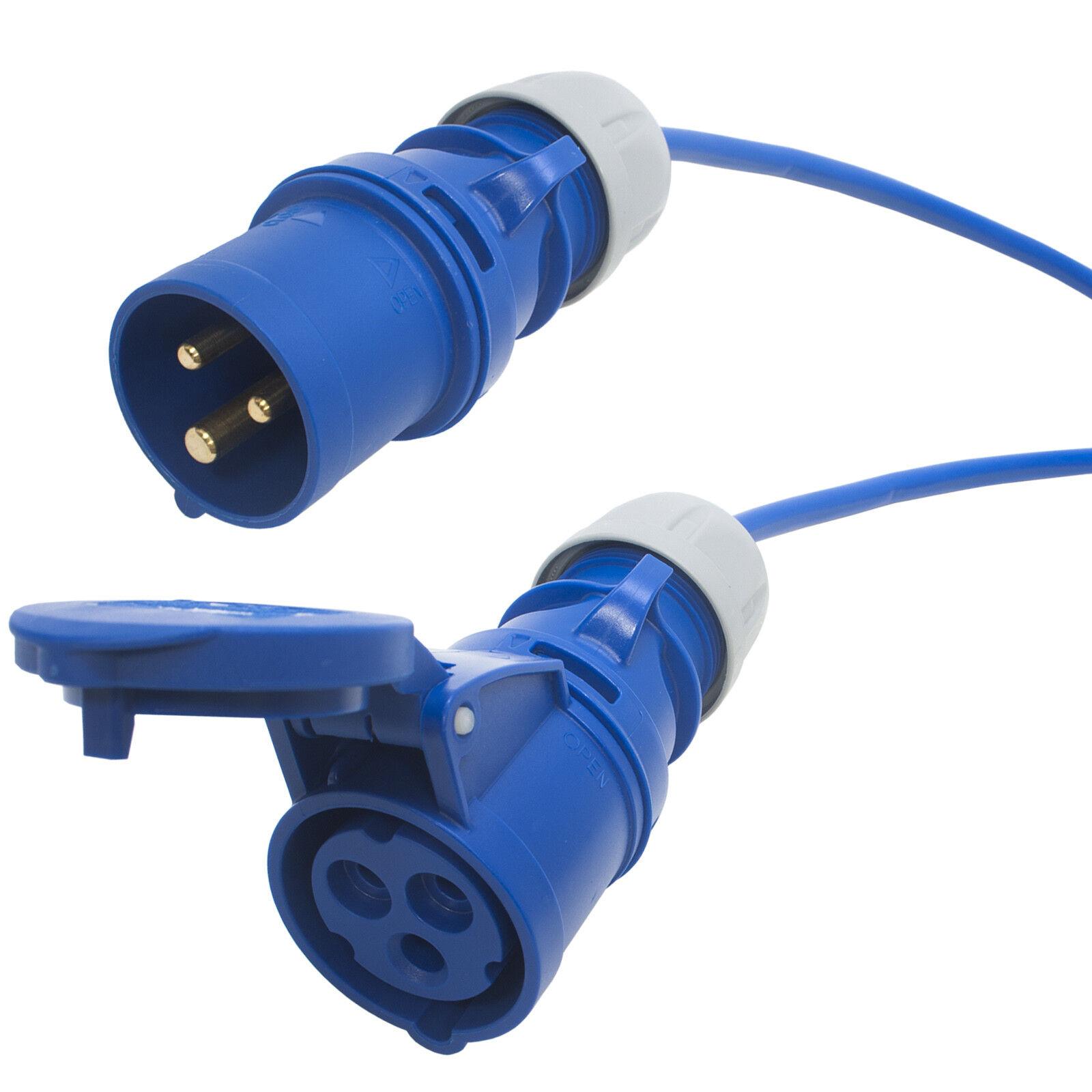 Tough 16 amp Arctic Blau Extension Cable. Caravan Hook up Lead. 240v 3x2.5mm.