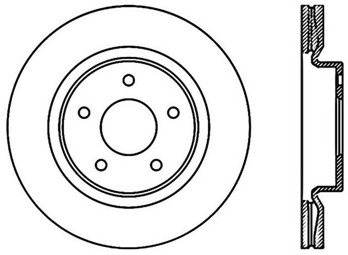 disc brake rotor coupe front centric 120 42096 fits 2013 nissan Tundra Engine stock photo