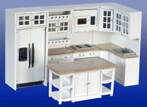 Details zu Puppenhaus Miniatur Küche Set Mit 100 W / Mikrowelle - 10:102  Maßstab (T57104) (DS)