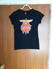 Vintage Bon Jovi t-shirt drawing of tattoo design rock band Sambora ladies small