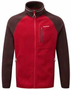 Mens Maglione Rosso pile giacca Ryagh in Craghoppers 1ROX18