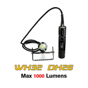Archon WH32 DH26 Cree XM-L U3 LED 1000LM Canister Scuba Diving Flashlight Torch