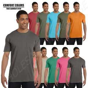 f861a03b7 Comfort Colors 6.1 oz. Garment Dyed Pocket T-Shirt S-3XL M-6030CC | eBay