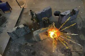 Escala-1-12-Figura-de-Accion-diorama-accesorio-Barricada-misil-de-asalto