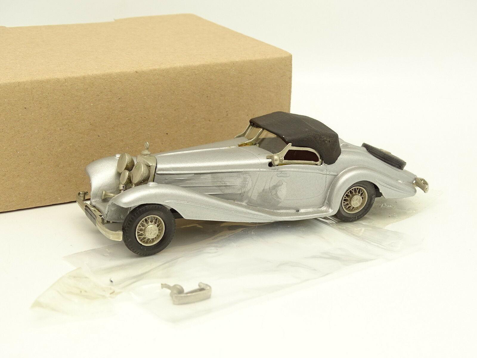 Western Modelle Set aufgebaut 1 43 - Mercedes 540 K Roadster grey