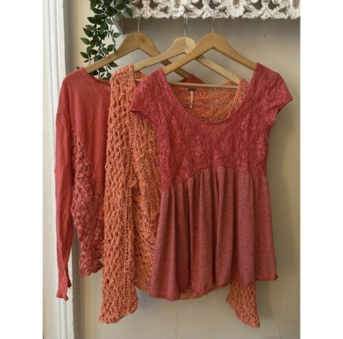 Free People Lot Of 3. Sweater/ Tops
