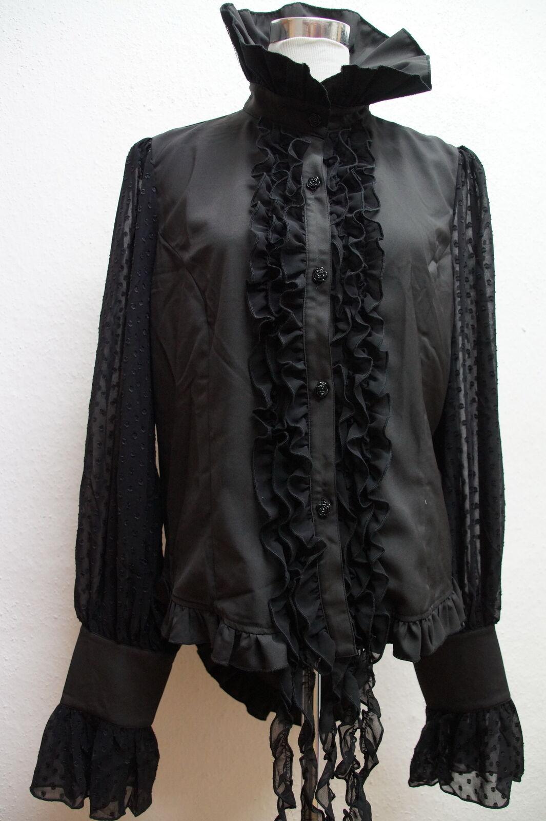 Schöne festliche Blause schwarz Gothic Devil Fashion Gr.XL XXL