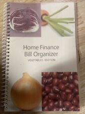 Bill Organizer Amp Home Finance Book Monthly Pockets Vegetables Edition