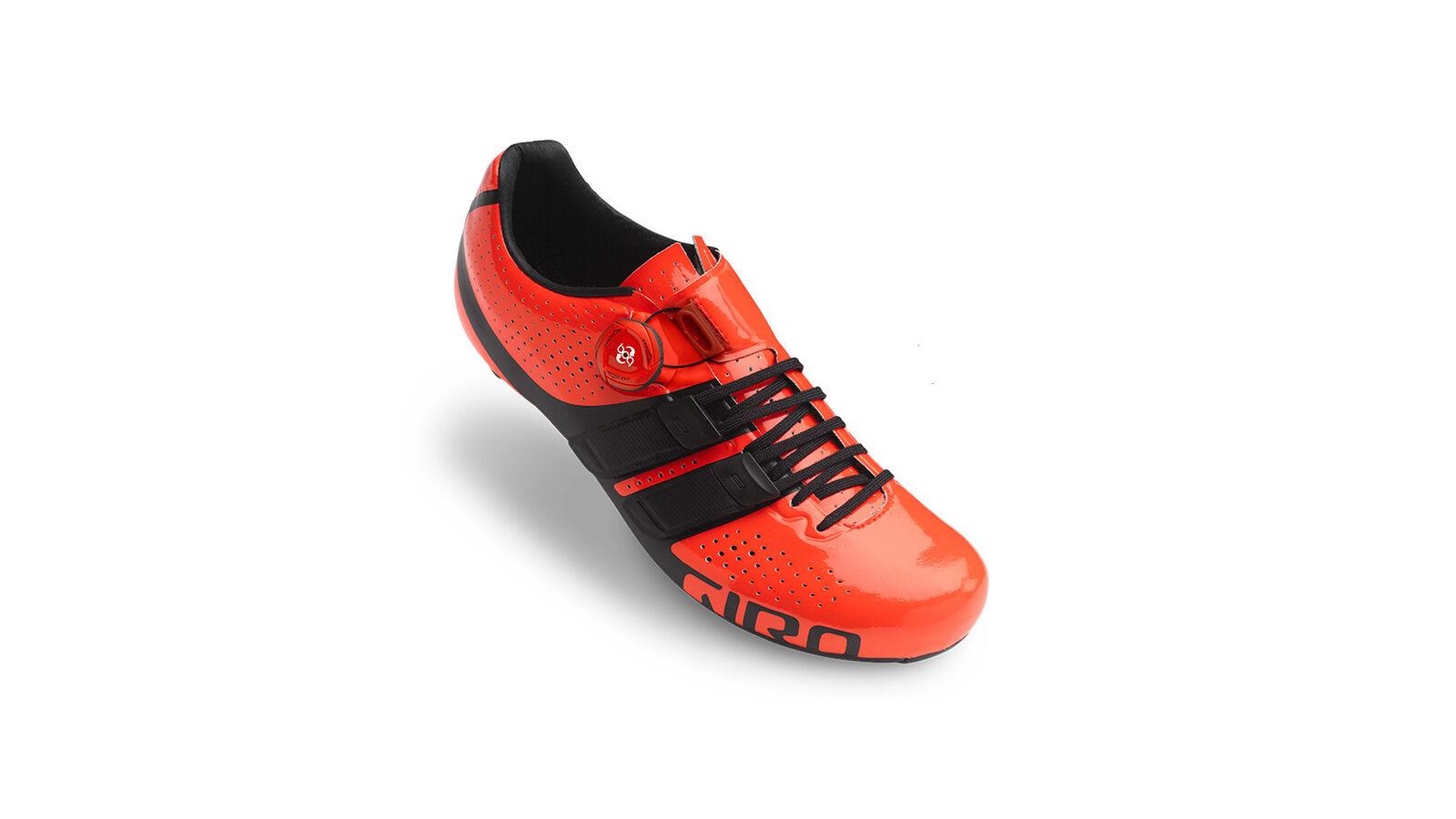 Giro Zapatillas de Bicicleta Factor Techlace Rojo Impermeable Transpirable Fácil