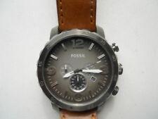 item 7 Fossil men s brown leather band.quartz 70646c355f4
