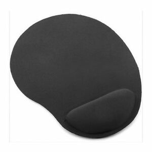 BLACK-ANTI-SLIP-MOUSE-MAT-PAD-WITH-FOAM-WRIST-SUPPORT-PC-amp-LAPTOP-UK-SELLER