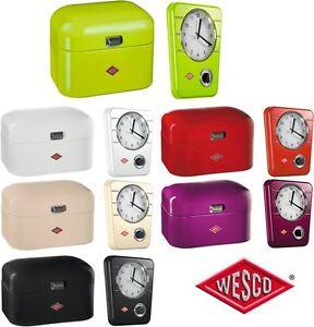 Wesco Porta Pane Single Grandy & Orologio da Cucina con Timer | eBay