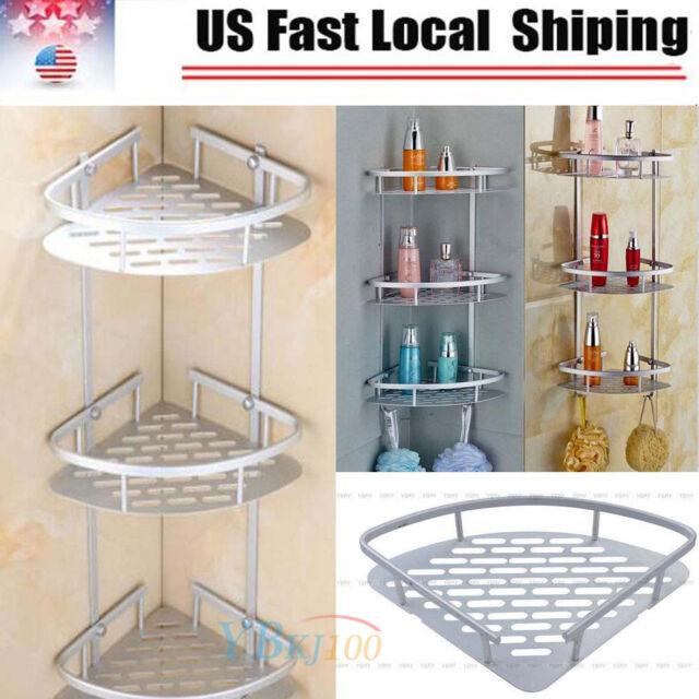 3 Tier Corner Shower Caddy Basket Bathroom Chrome Cosmetic Shelf ...