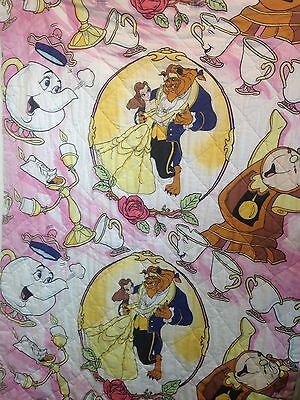 disney's beauty and the beast vintage coverlet bedspread