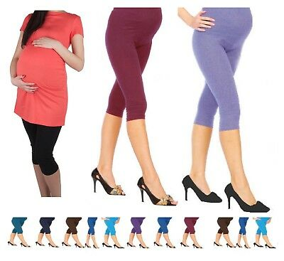 RüCksichtsvoll Very Comfortable 3/4 Length Pregnancy Cropped Maternity Cttn Leggings*3/4mtrl
