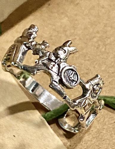 Alice in Wonderland Sterling Silver Ring 925 Rabbi