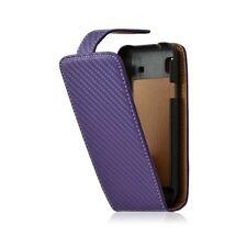 Housse coque étui gaufré pour Samsung Galaxy SCL i9003 couleur violet