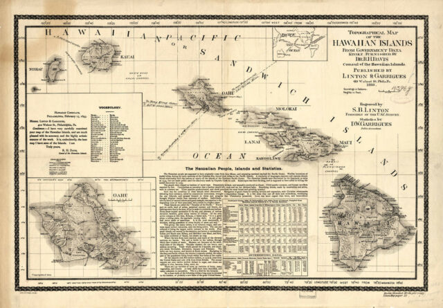 It is an image of Printable Map of Hawaiian Islands with national park map