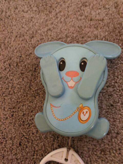 Vintage Baby Crib Toy Clown & Rabbit Peekaboo Music Box