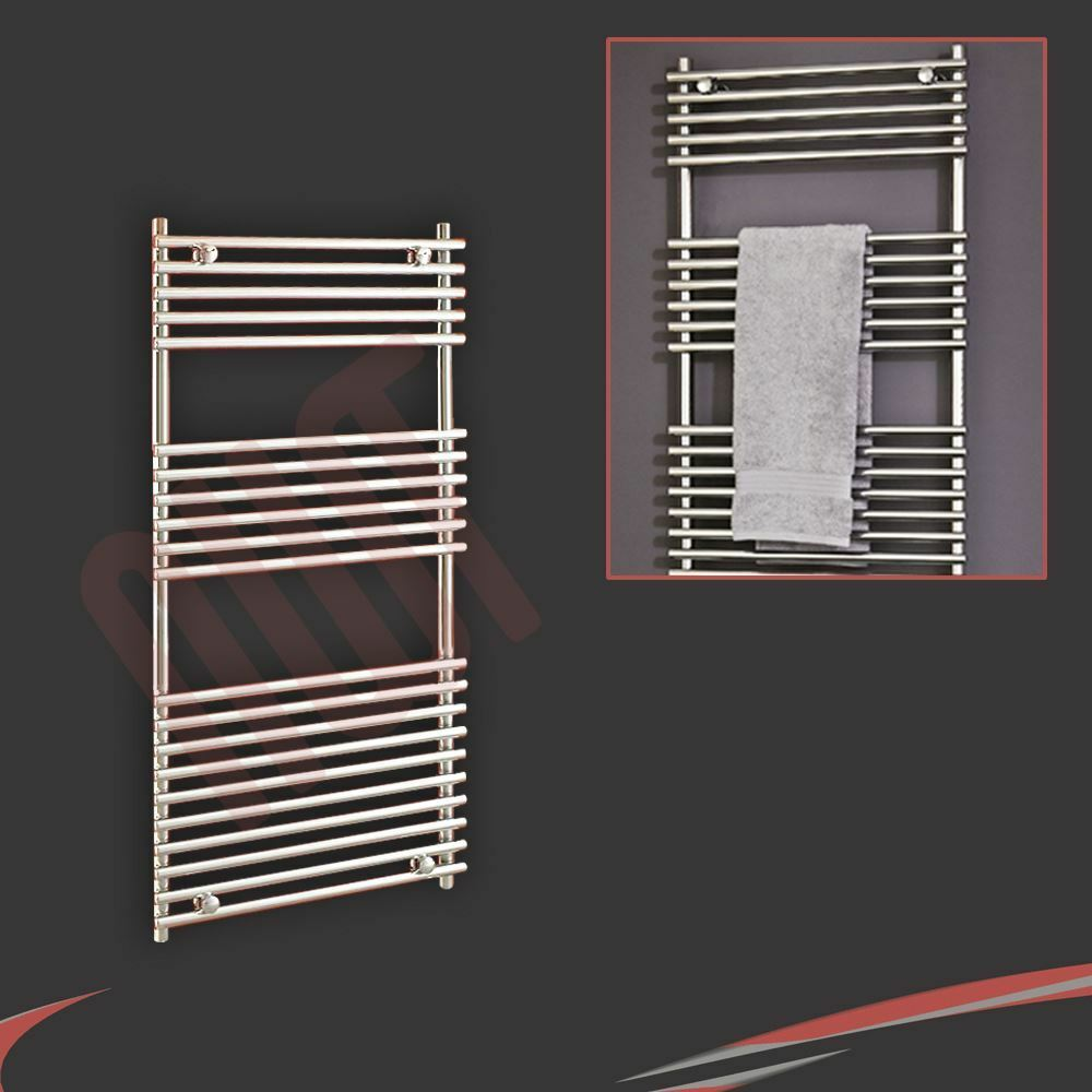 600mm (w) x 1 200 mm (h)  Polaris  Chrome Designer porte-serviettes chauffant, radiateur