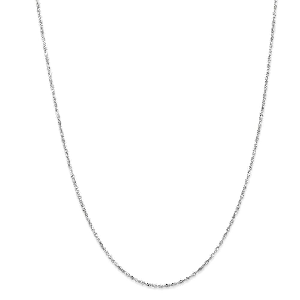 14kt White gold 1.1mm Singapore Chain; 20 inch
