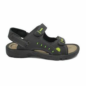 Sandali-uomo-aperti-estivi-casual-scarpe-mare-comode-chiusura-strappo-Fibbie-jx