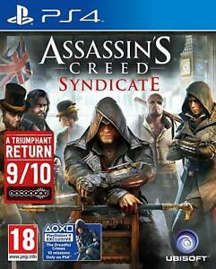 ASSASSIN-039-S-CREED-Syndicate-PS4-OTTIME-Super-Fast-amp-Consegna-Rapida-Gratis