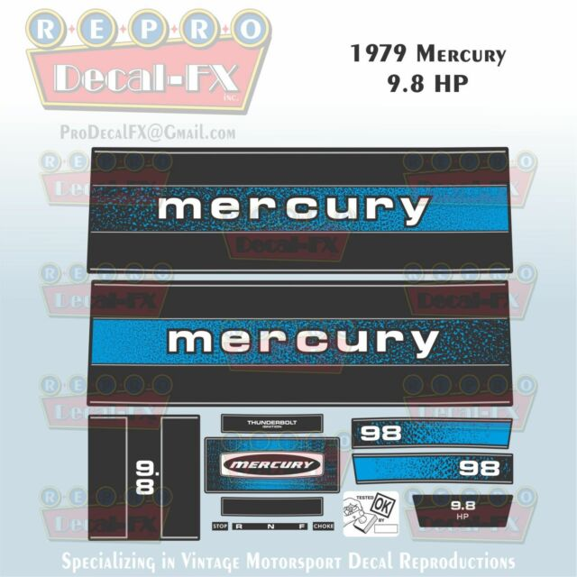 1979 Mercury 9 8 Hp Outboard Reproduction 13 Piece Marine